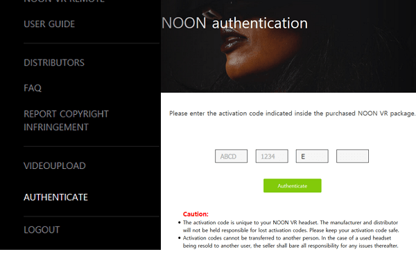 NOON VR : USER-GUIDES